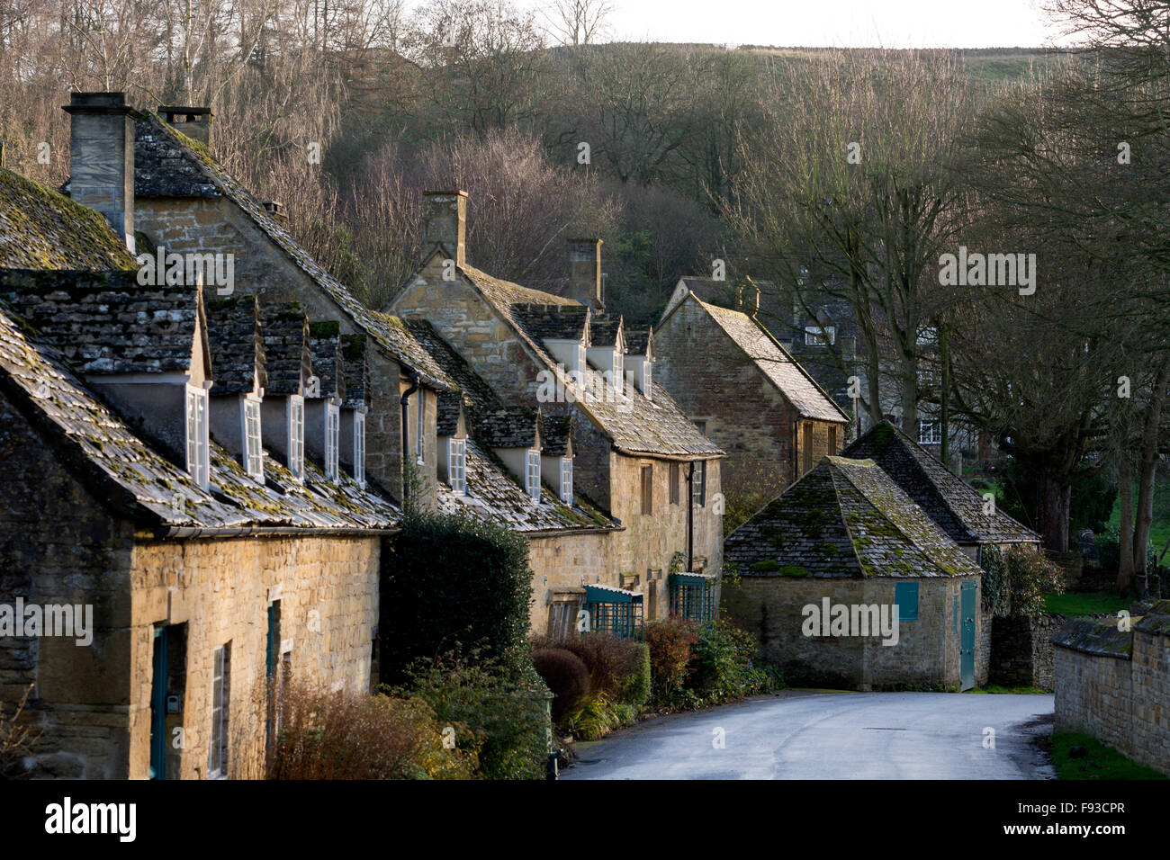 snowshill village in winter gloucestershire england uk