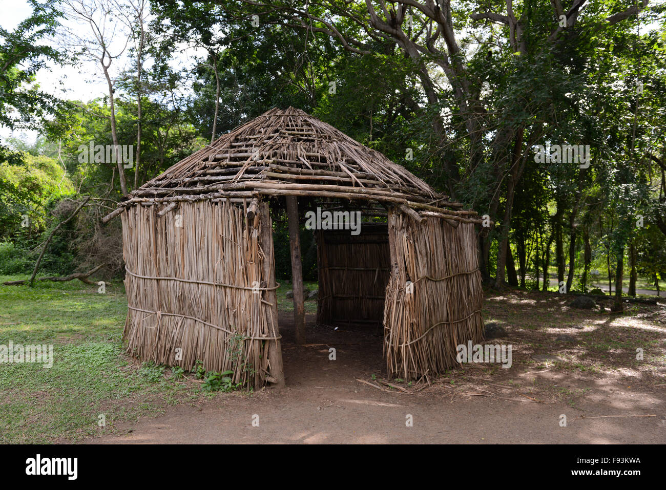 Replica of a Indigenous hut at the Tibes Indigenous Ceremonial Stock Photo, Royalty Free Image ...