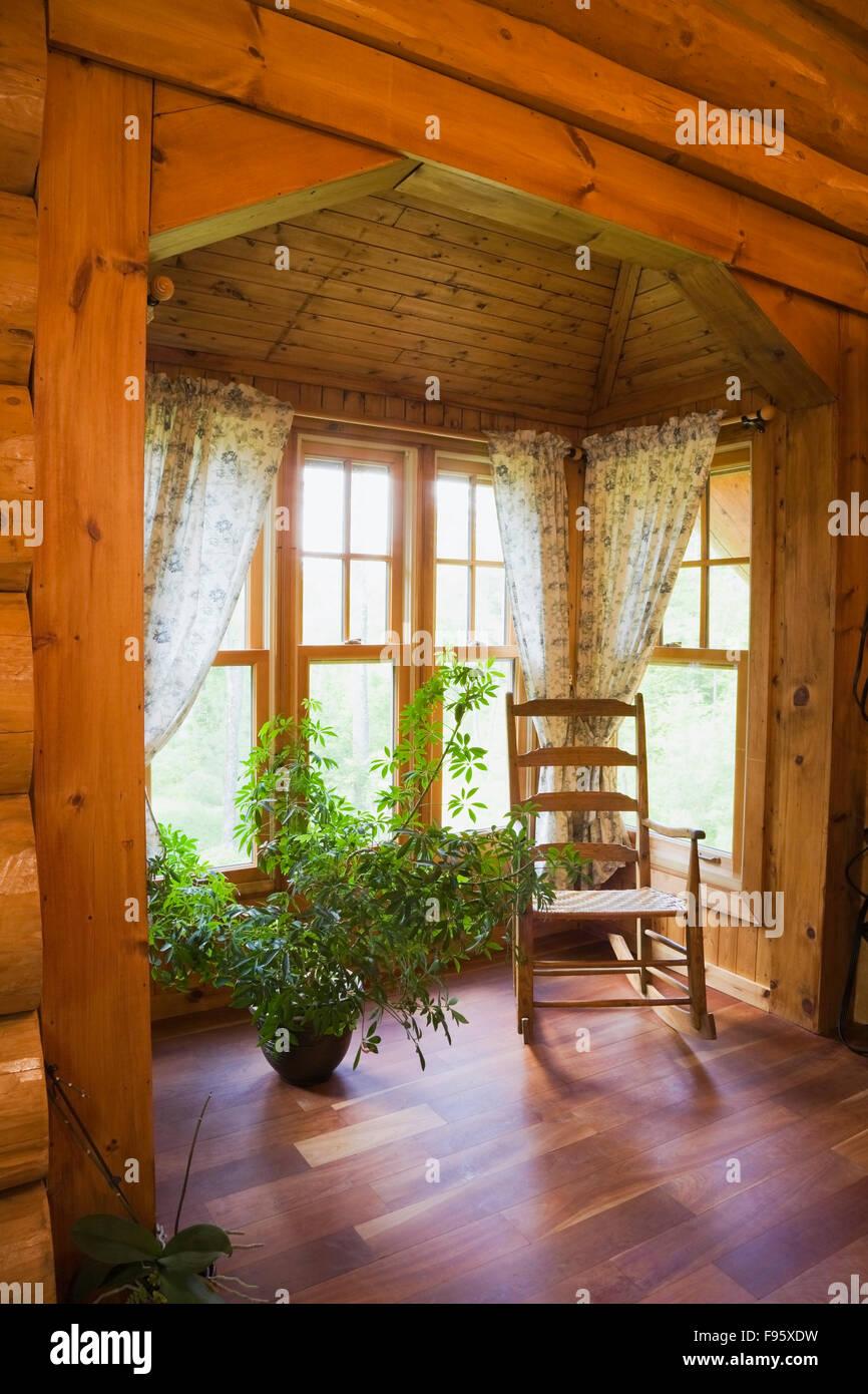 Master Bedroom Extension old wooden rocking chair in the extension of the master bedroom on