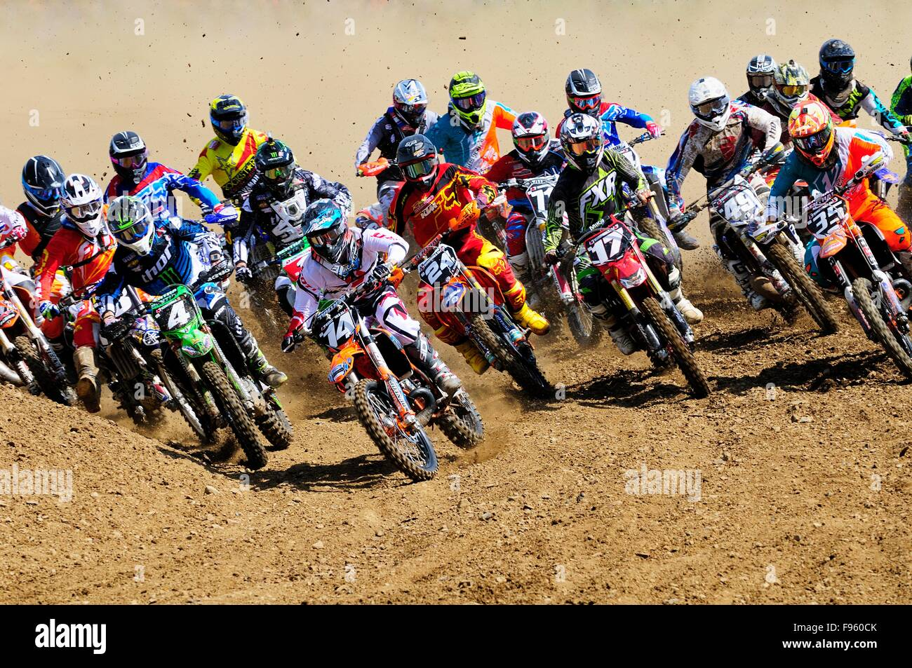 Pro motocross start