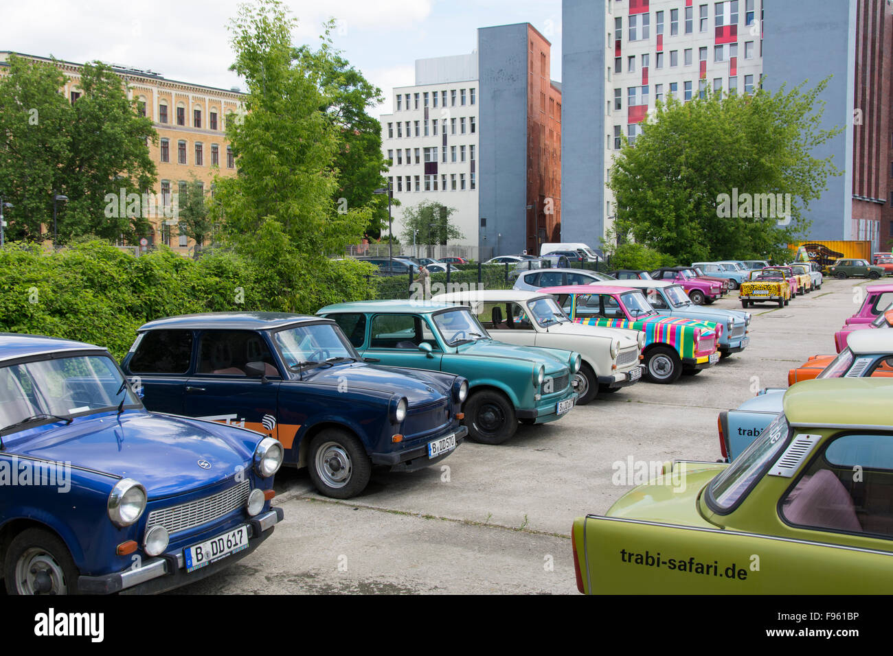 trabi rental cars berlin germany stock photo royalty free image 91716570 alamy. Black Bedroom Furniture Sets. Home Design Ideas