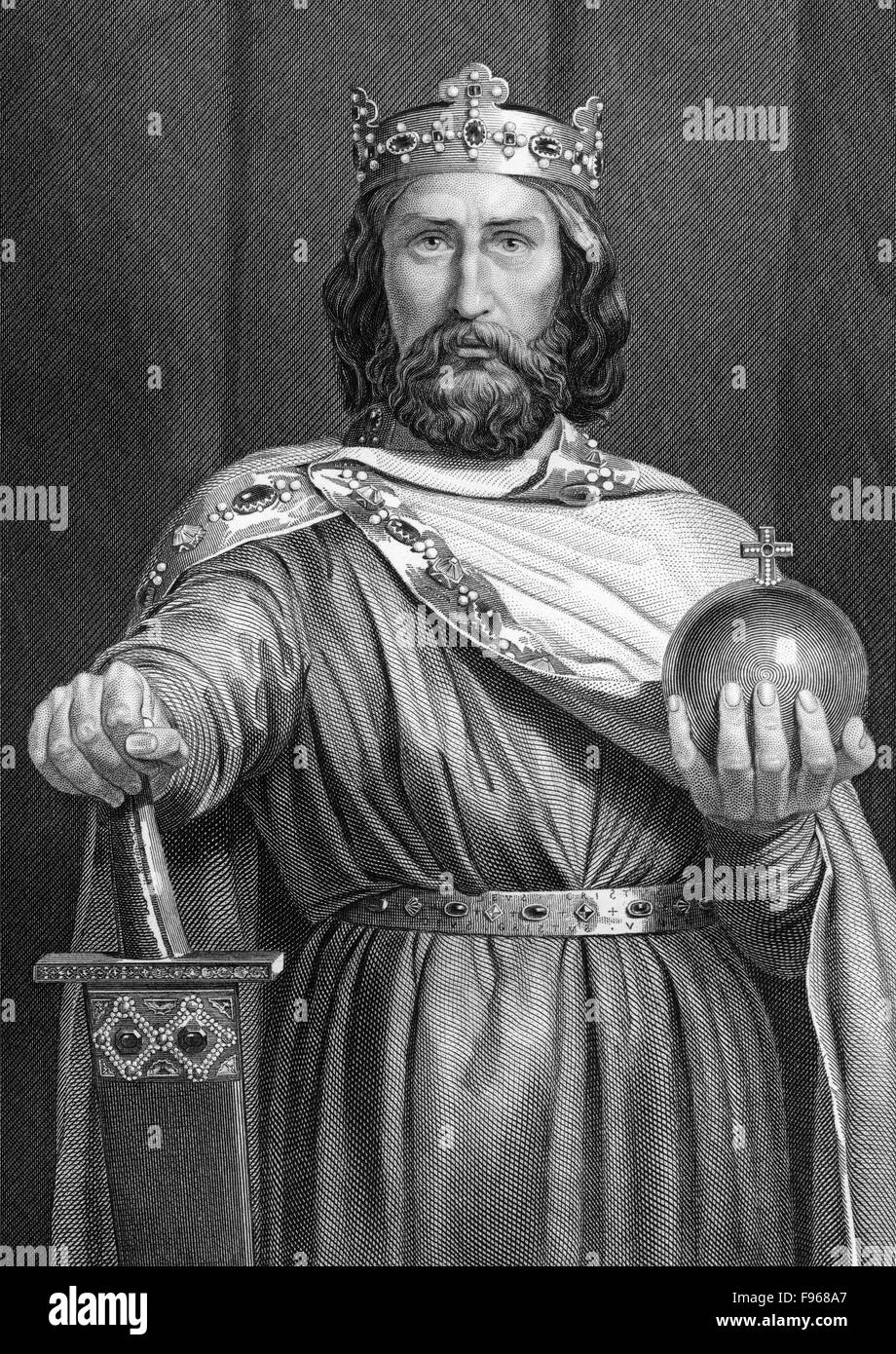 Charlemagne wearing the imperial regalia charles the for Picture great