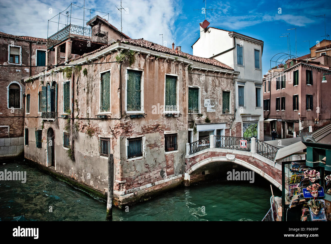 derelict buildings in venice stock photo royalty free