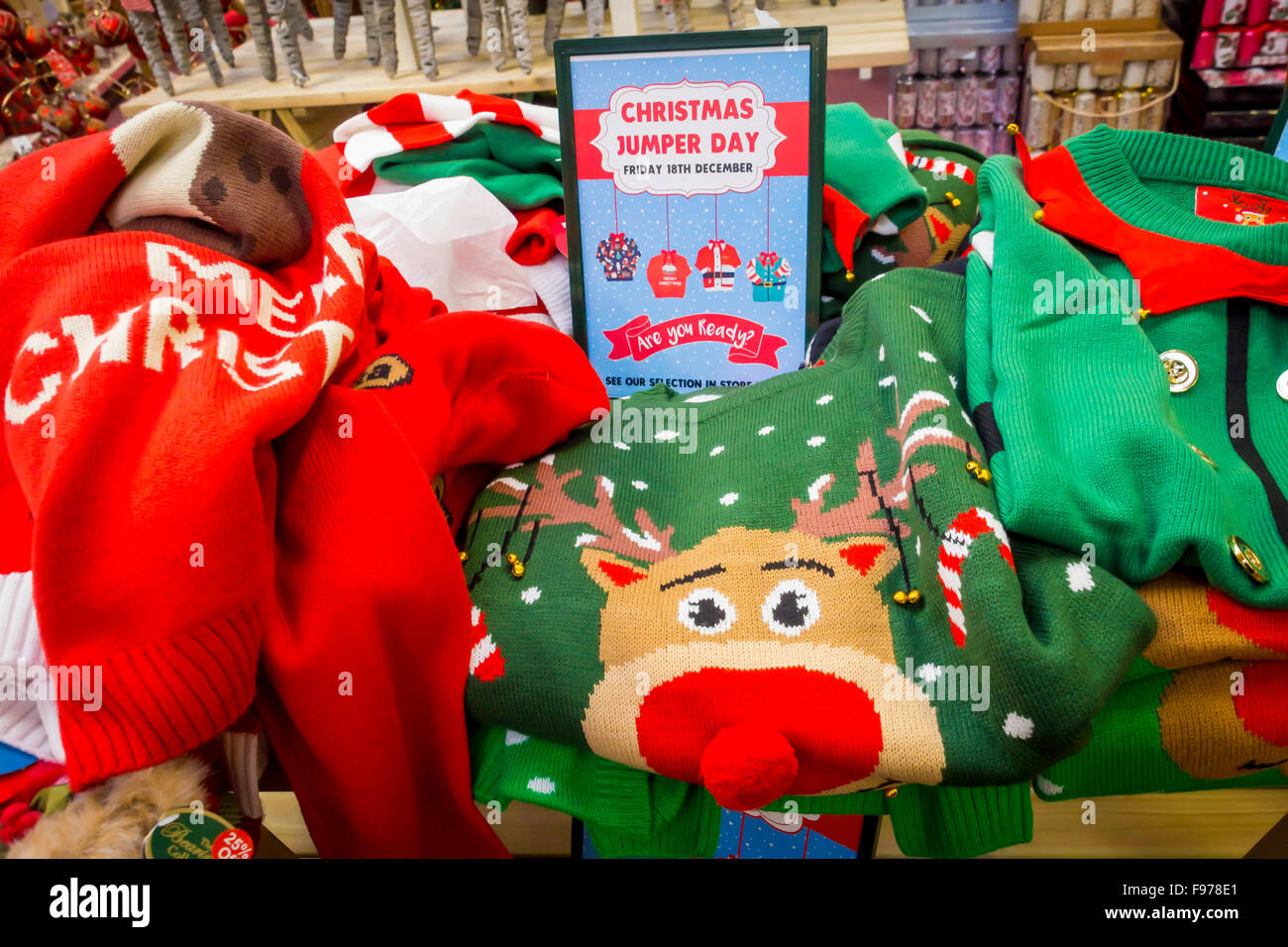 Garden Centre Christmas Goods department in North Yorkshire England ...