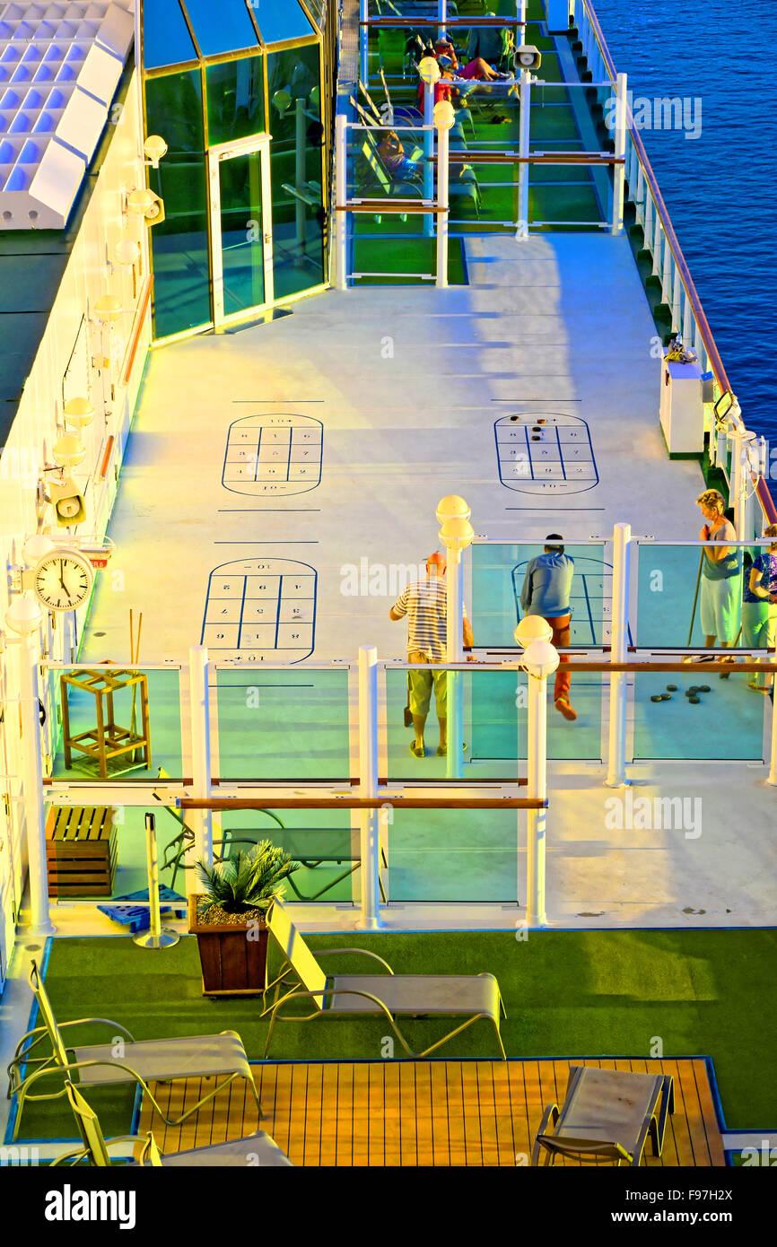 P O Ventura Cruise Ship Sunshine Deck Games Stock Photo Royalty - Cruise ship building games