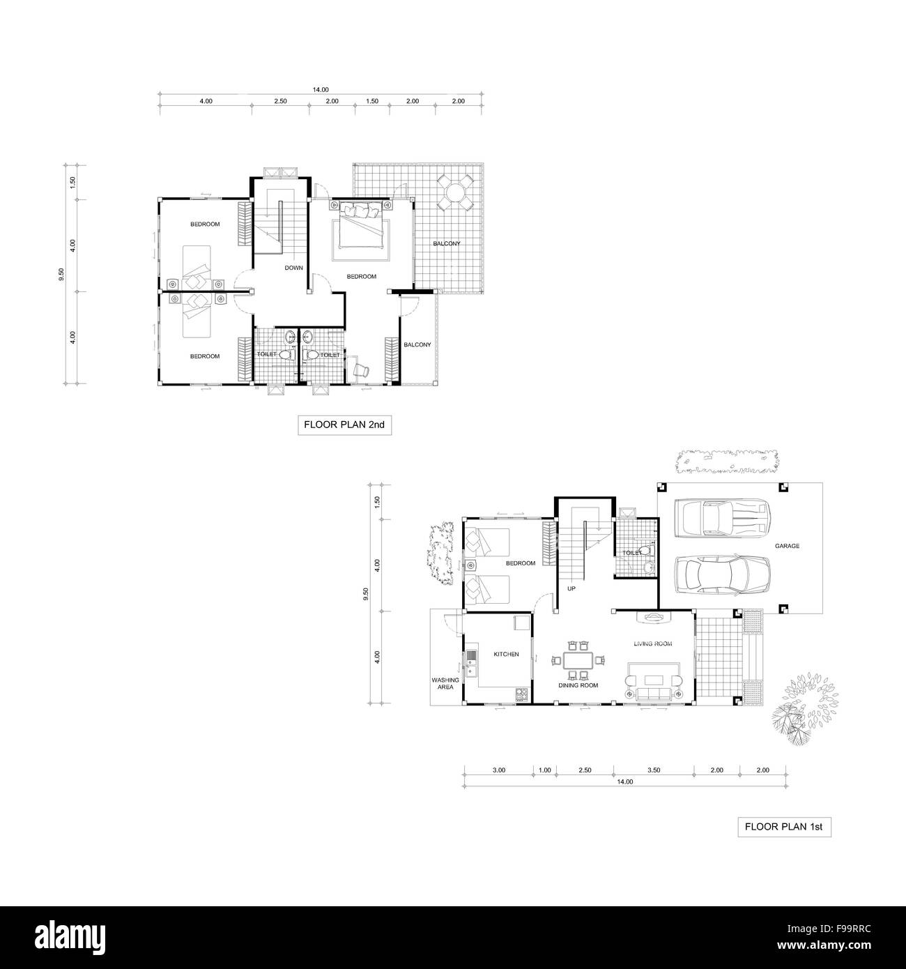 Architecture Plan Drawing Design House  Plans Downstairs And Stock Photo  91800000