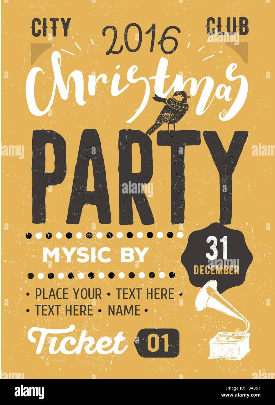 christmas party retro typography poster stock photo royalty christmas party retro typography poster