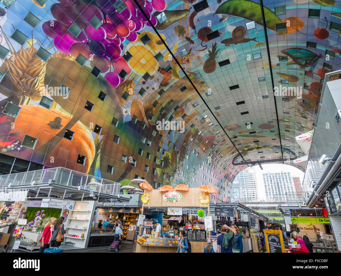 rotterdam market hall markthal koopboog a residential and office stock photo 91857683 alamy. Black Bedroom Furniture Sets. Home Design Ideas