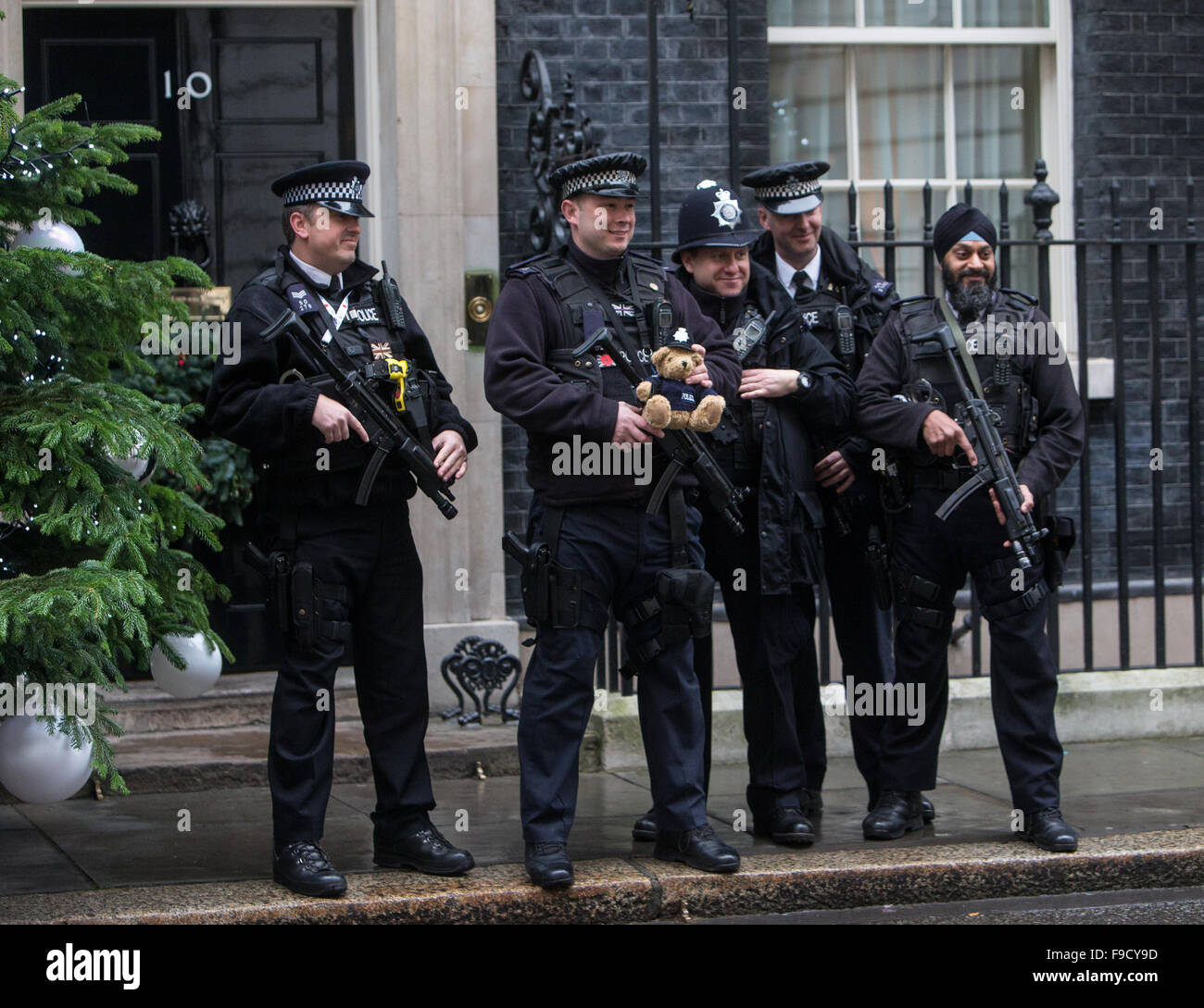 Security Police At Number 10 Downing Street Posing In