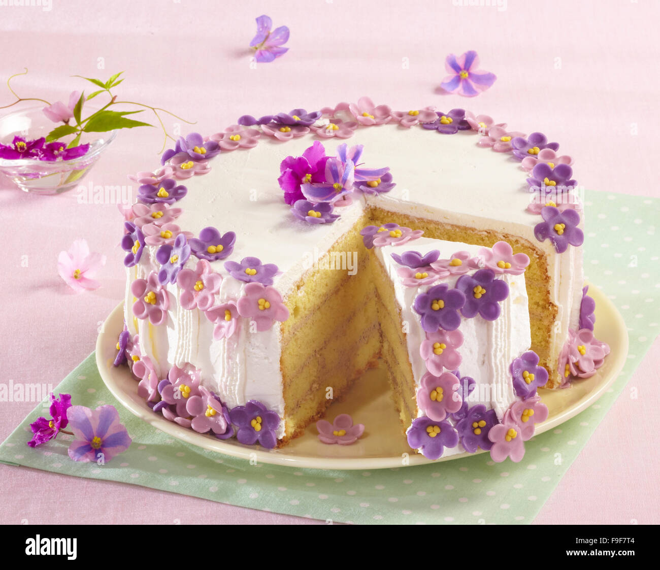 Stock Photo Violet Cake Step By Step