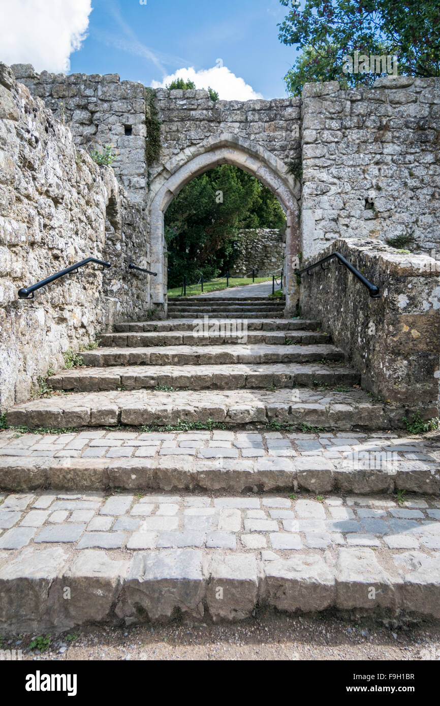 ancient stone steps leading through a stone arch in leeds castle stock photo royalty free image. Black Bedroom Furniture Sets. Home Design Ideas