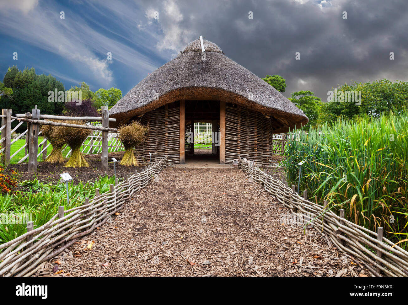 Exceptional Replica 11th Century Viking House In The Dublin National Botanic Gardens,  Glasnevin Ireland.
