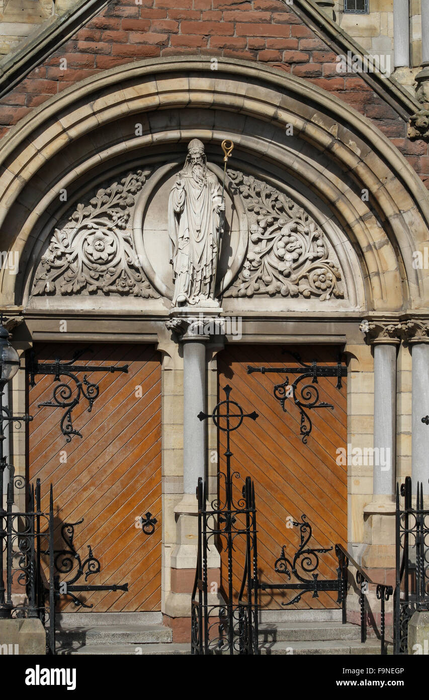 Strange Figure Of Christ And Entrance Doors To St Patricks Church Largest Home Design Picture Inspirations Pitcheantrous