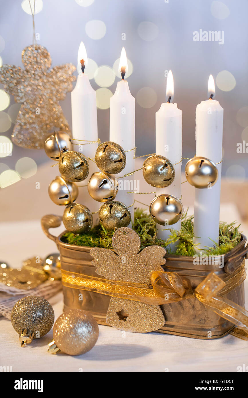 Individual ornament boxes - Material Box Candles Bells Gold Cord Gold Ribbon Gold Angel Sand Moss Procedure Pour The Sand Into The Crate Insert Individual Candles And Sand