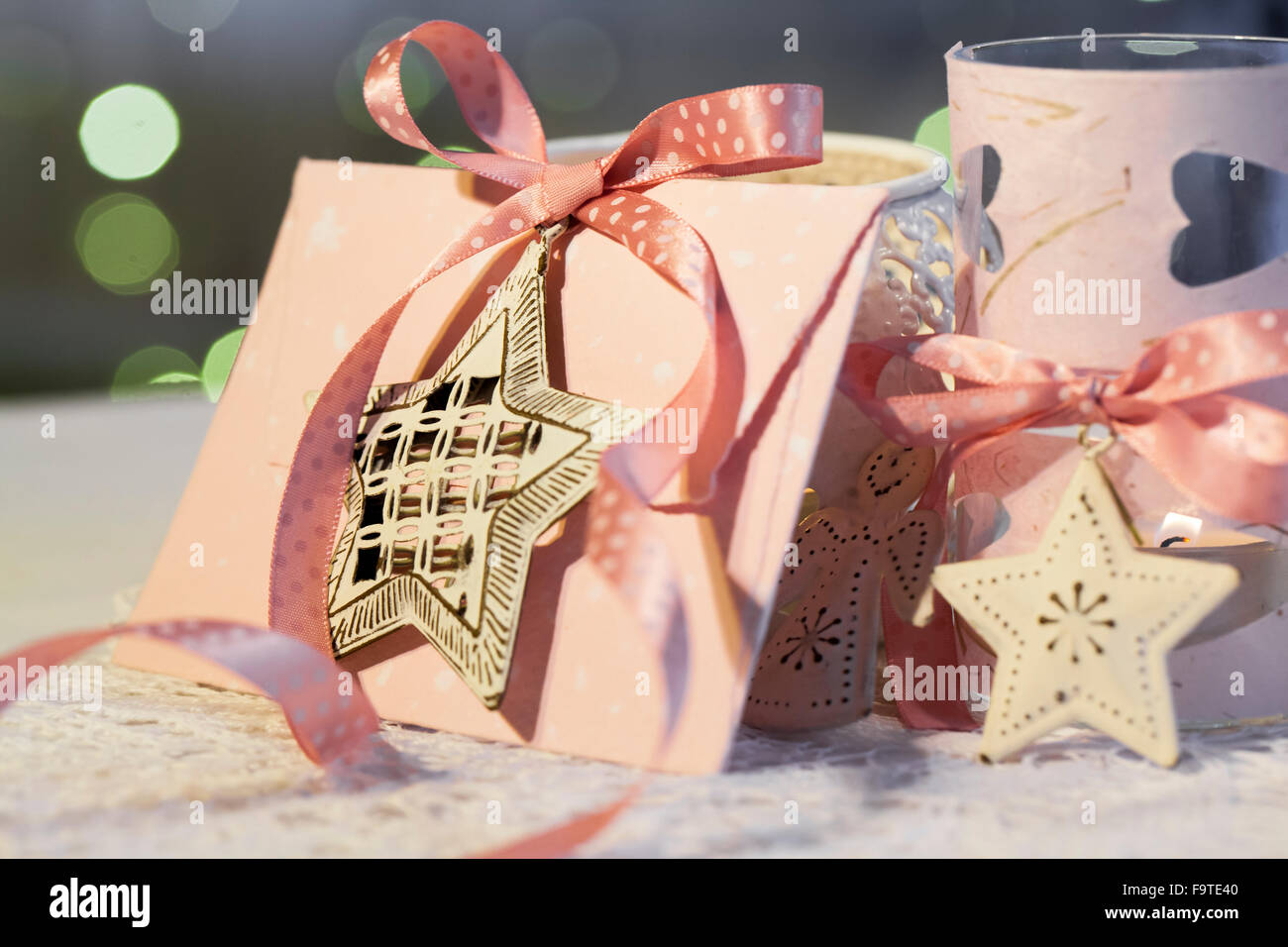 Silk christmas ornaments - Material Hardware Christmas Ornaments Satin Ribbon Pink Envelope Handmade Paper Silk Pink Paper Scissors Glasses Cut Two Strips Of Paper And Cut Out