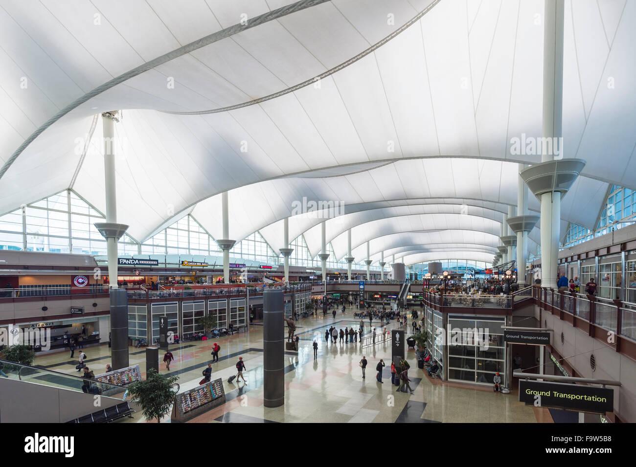 Denver Airport, Colorado USA   Stock Image