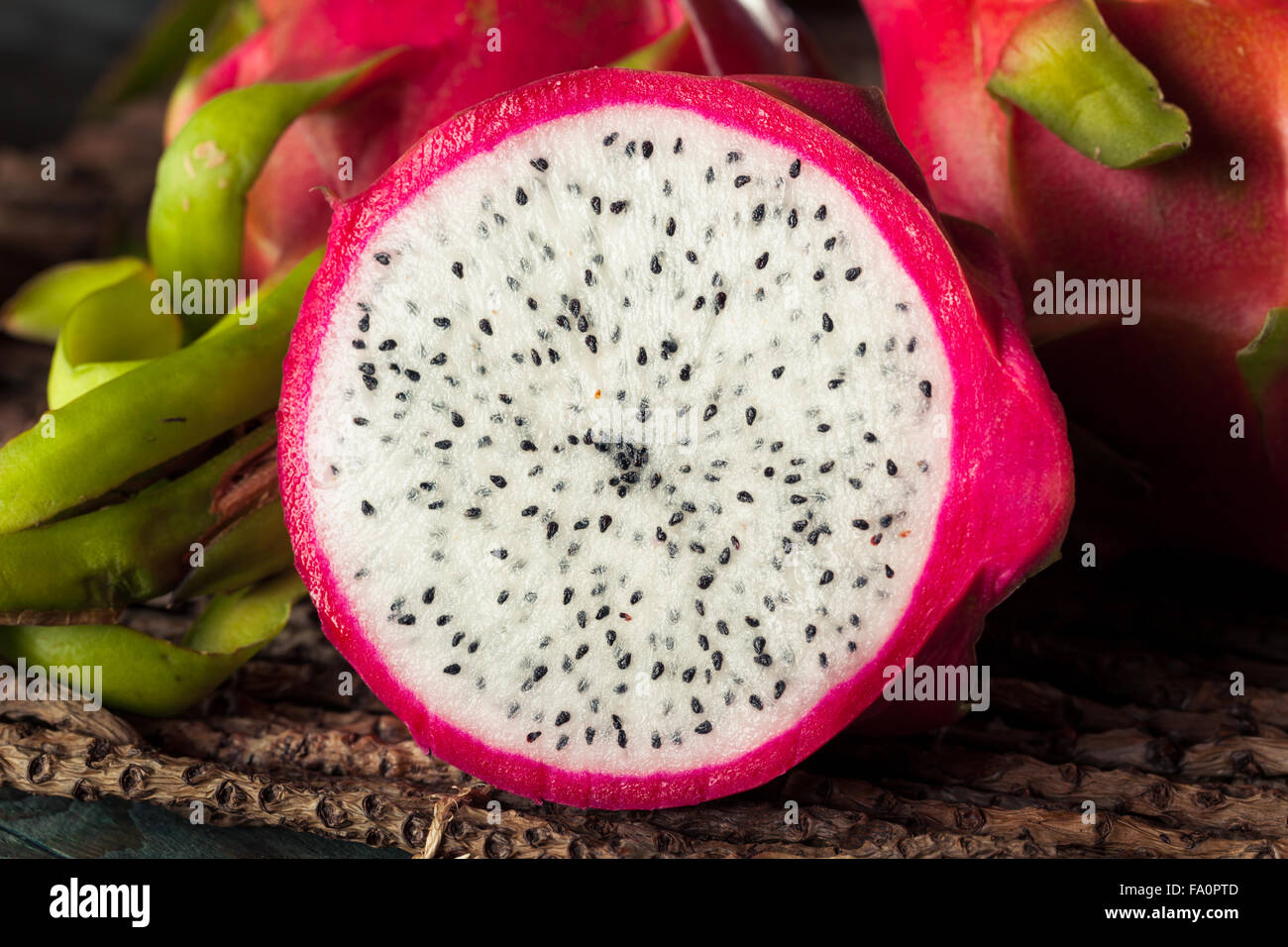 Rawanic Dragon Fruit Ready To Eat Stock Photo, Royalty Free How To Eat A  Dragon