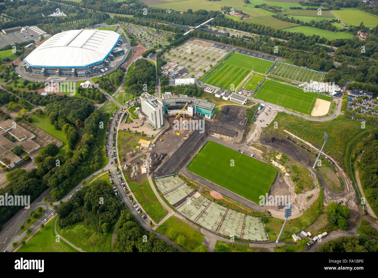 Construction In The Park Stadium Schalke Arena Veltins