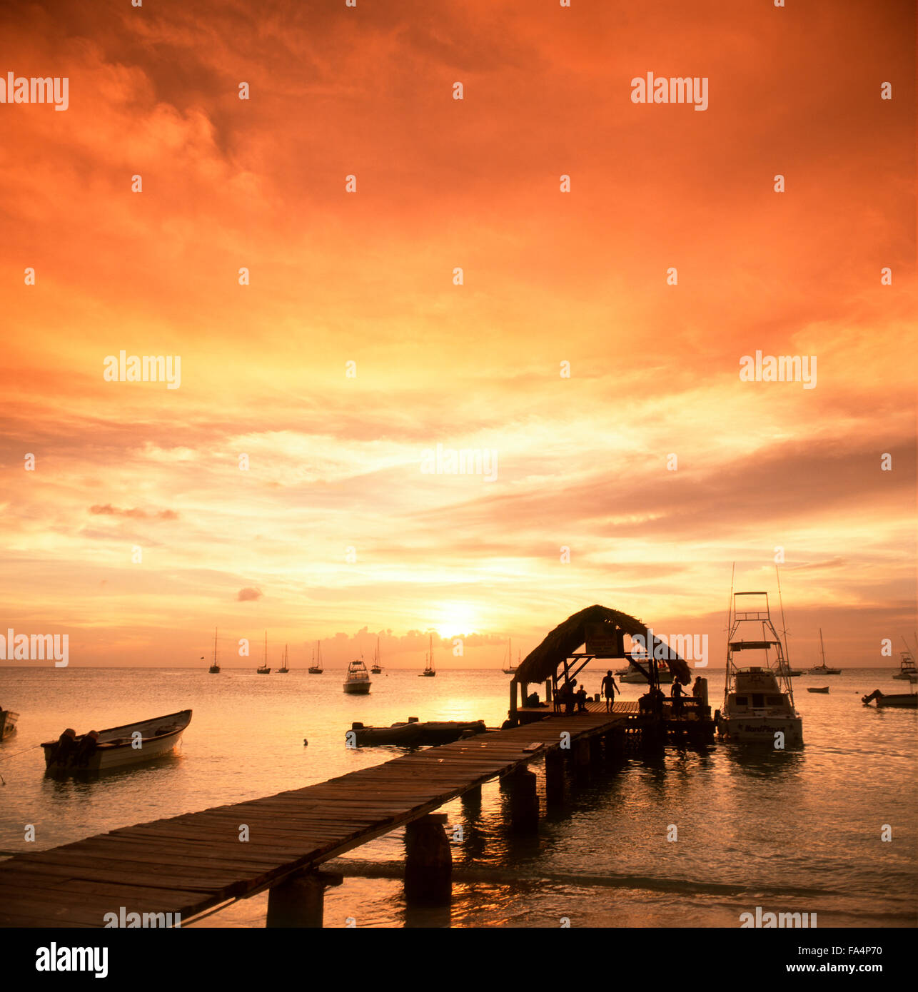 Sunset At Pigeon Point Tobago Trinidad And Caribbean