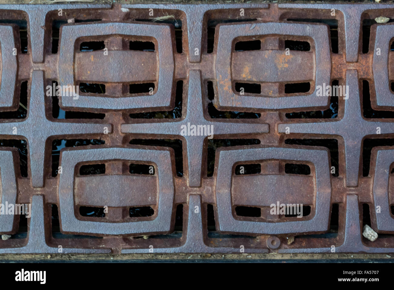 Decorative Metal Grates A Series Of Rectangles Appear As Buckles In A Decorative Metal