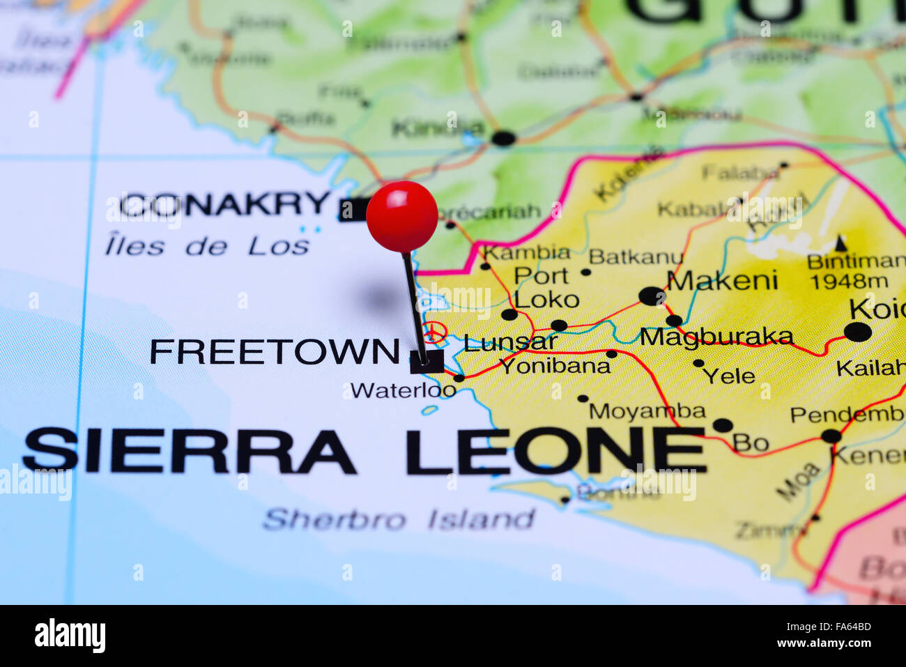 freetown africa map