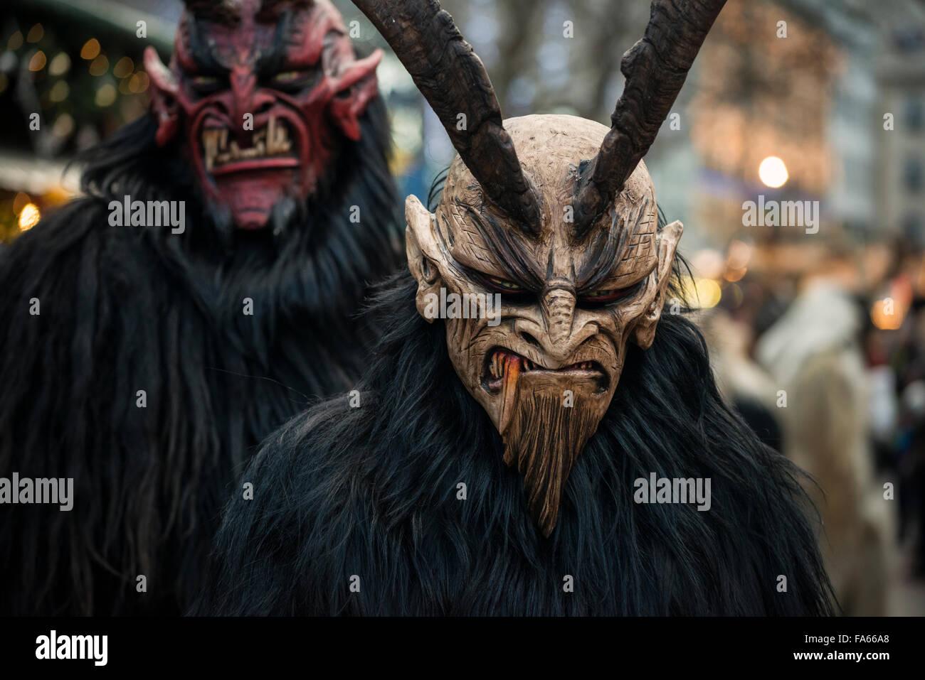 Krampus costume for sale -  Krampus Parade Munich Bavaria Germany Stock Photo