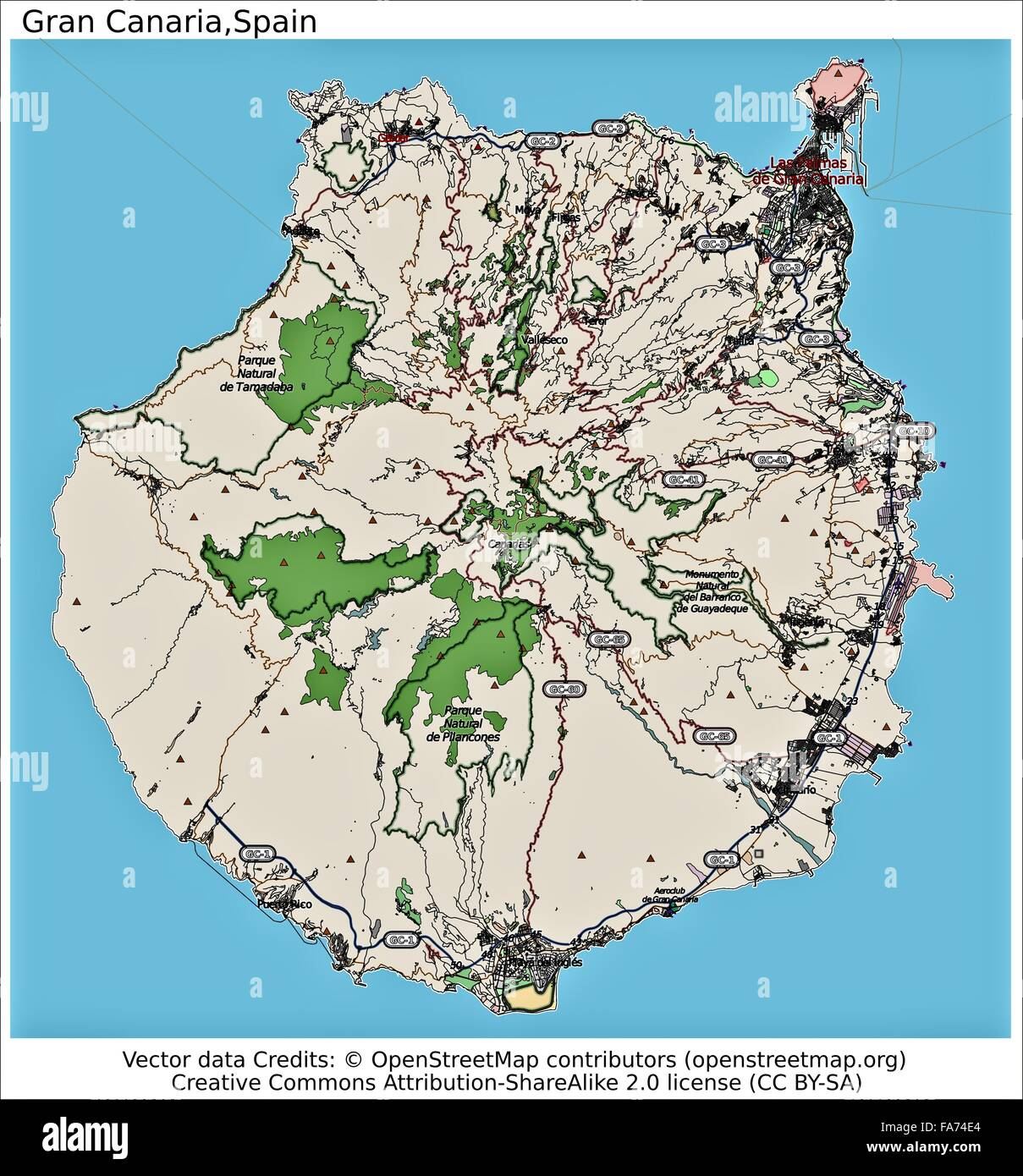 Gran Canaria Spain location map Stock Photo 92355596 Alamy