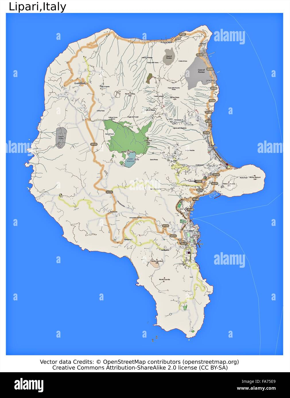Lipari Italy location map Stock Photo 92356385 Alamy