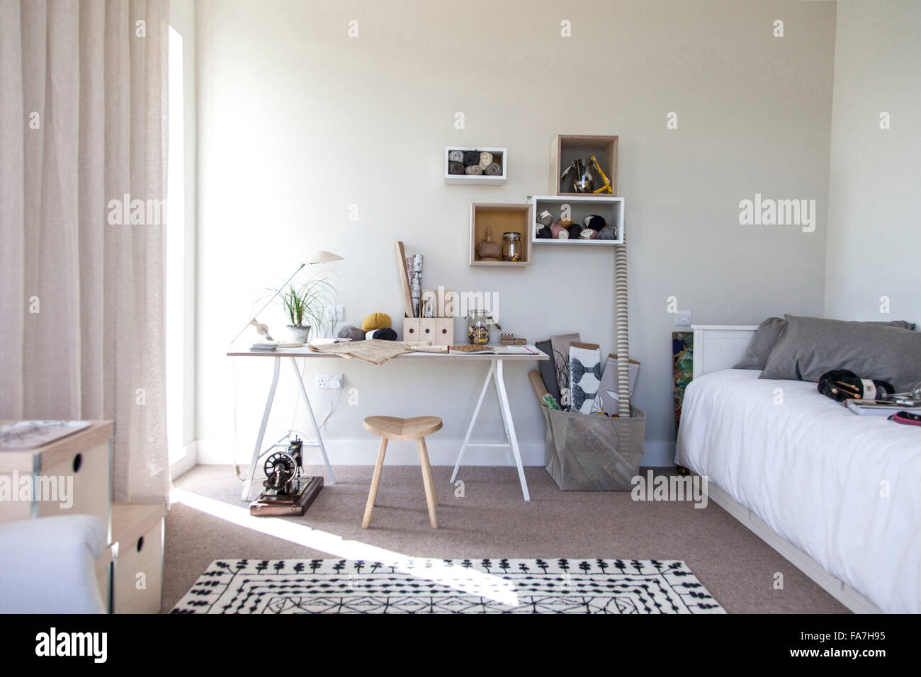 fashion stylist room a house combining modern minimalist style