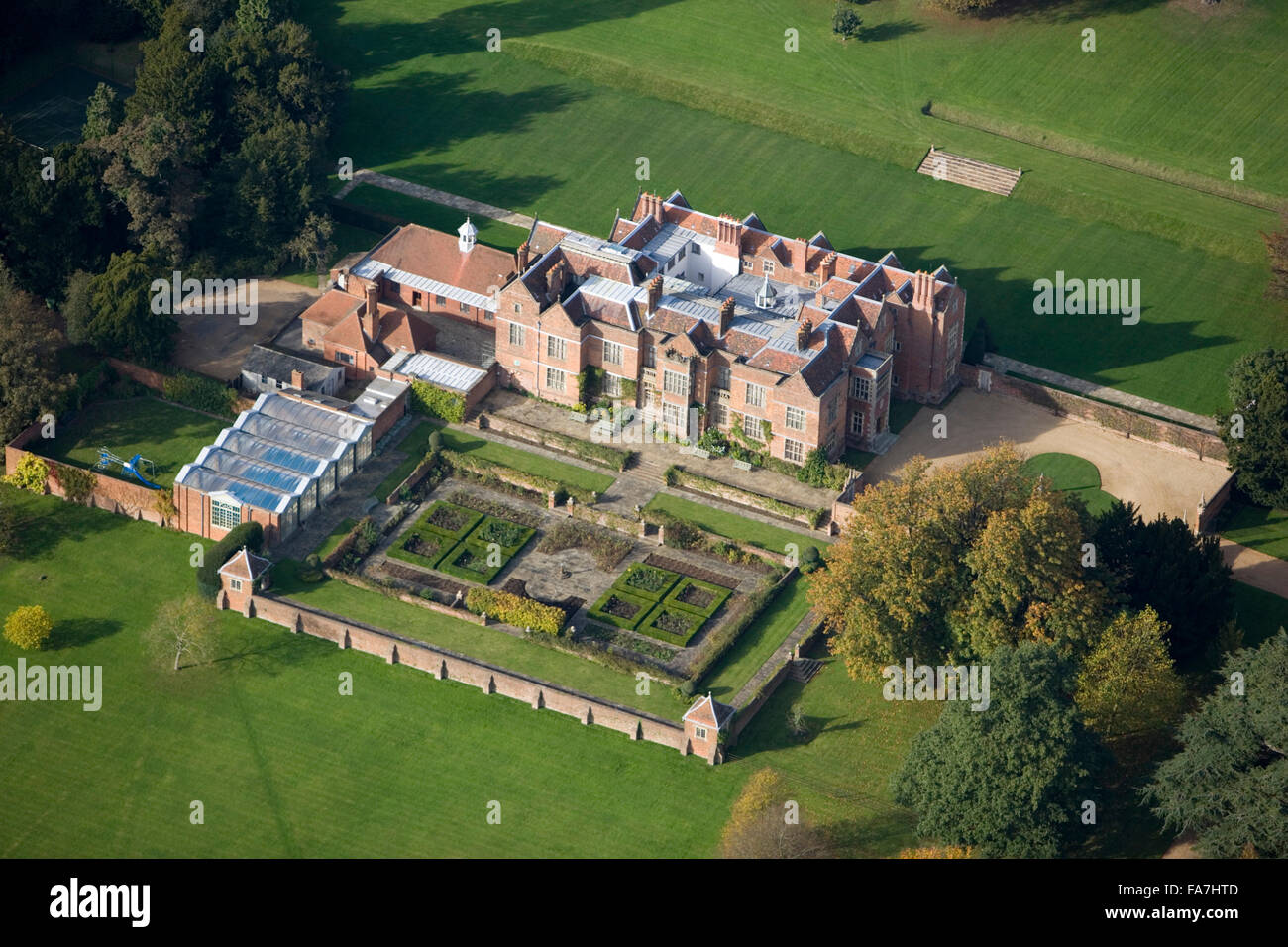Chequers Buckinghamshire Aerial View Tudor Mansion Which Is The Official Country Residence Of British Prime Ministers Since