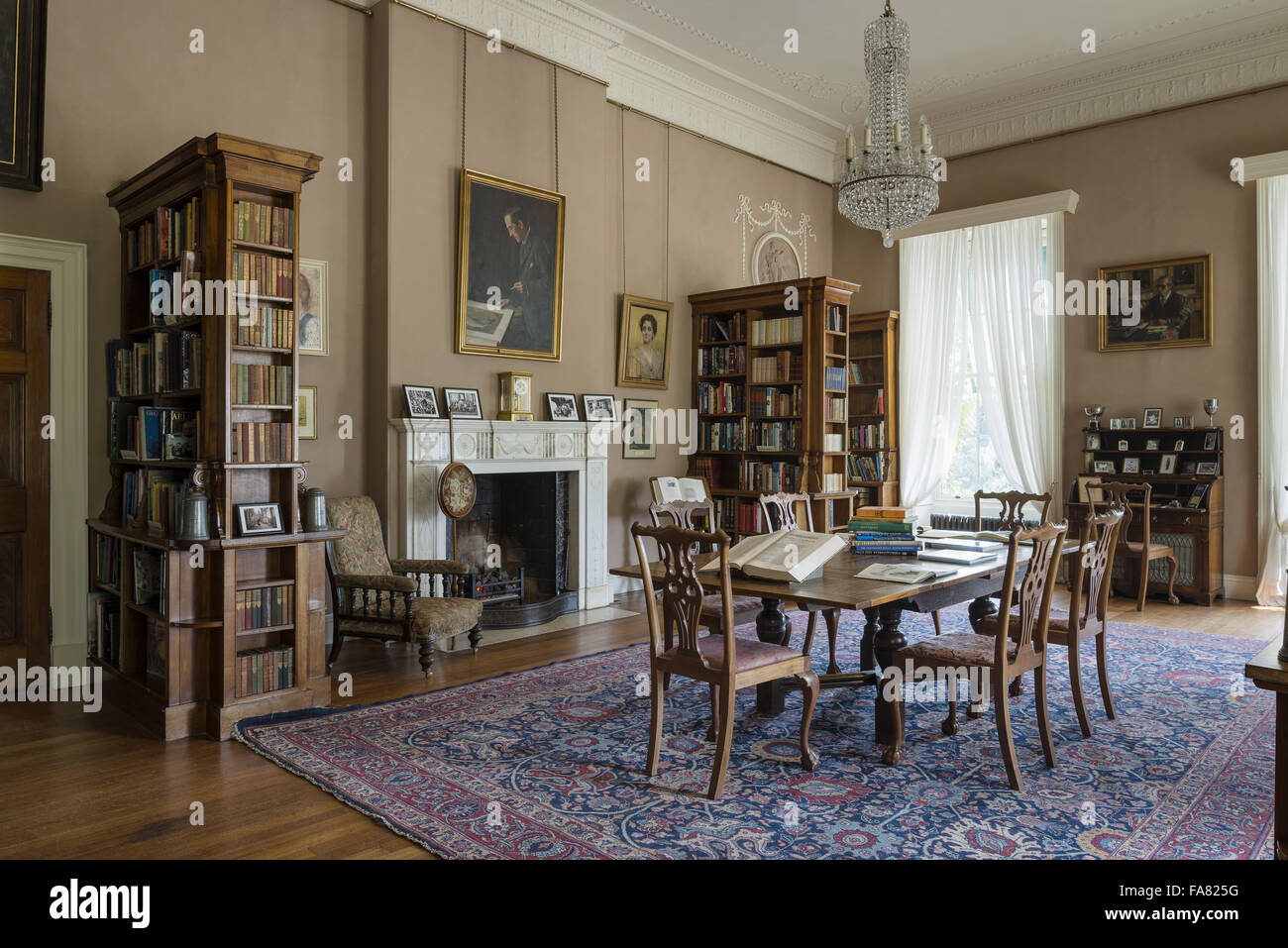 The Library At Killerton Devon This Room Was Turned Into During Edwardian Era