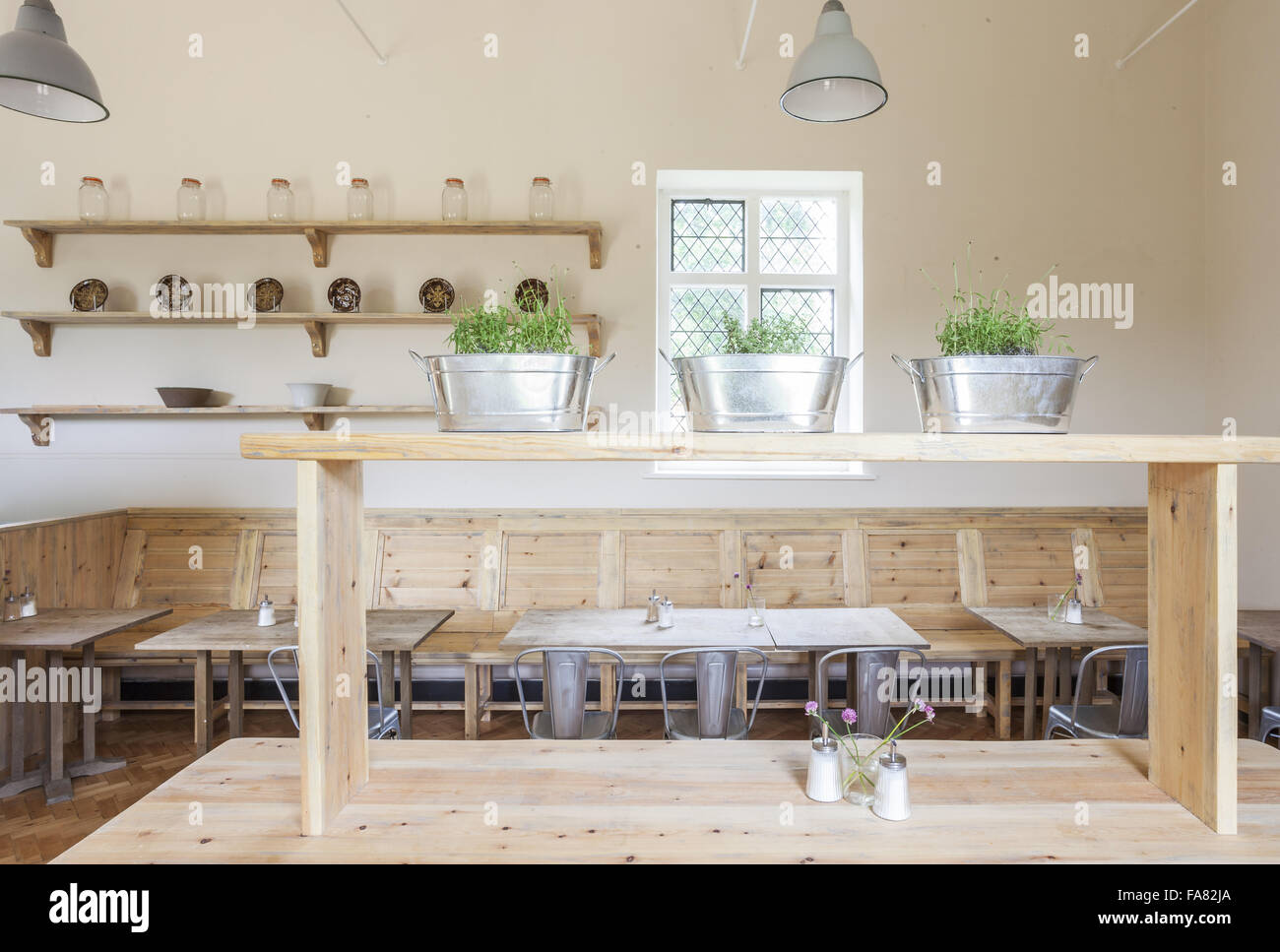 House and garden interiors - Stock Photo The Interior Of The Orangery Cafe At Ham House And Garden Surrey