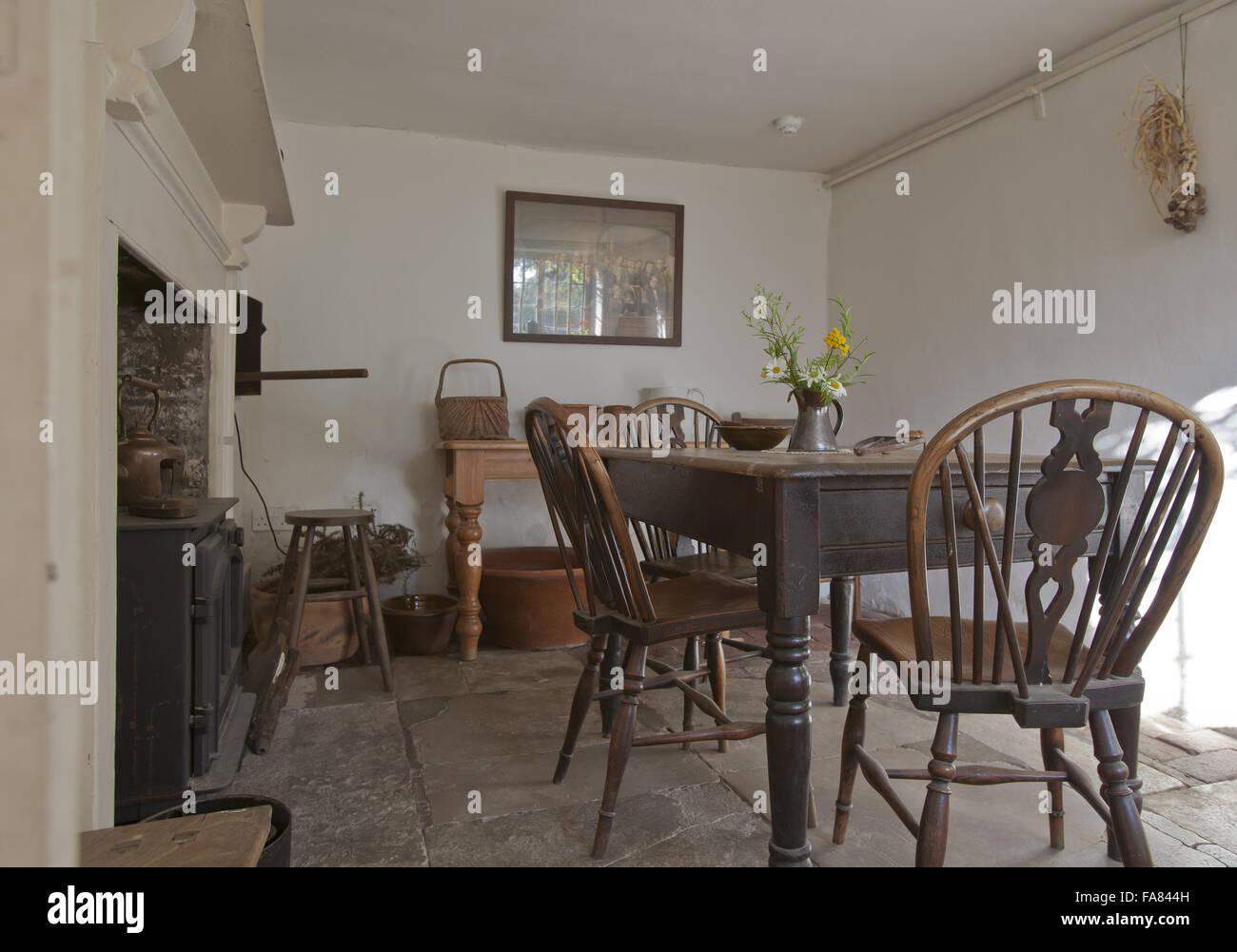 Granny\'s Kitchen at Hardy\'s Birthplace, Dorset. The writer Thomas ...