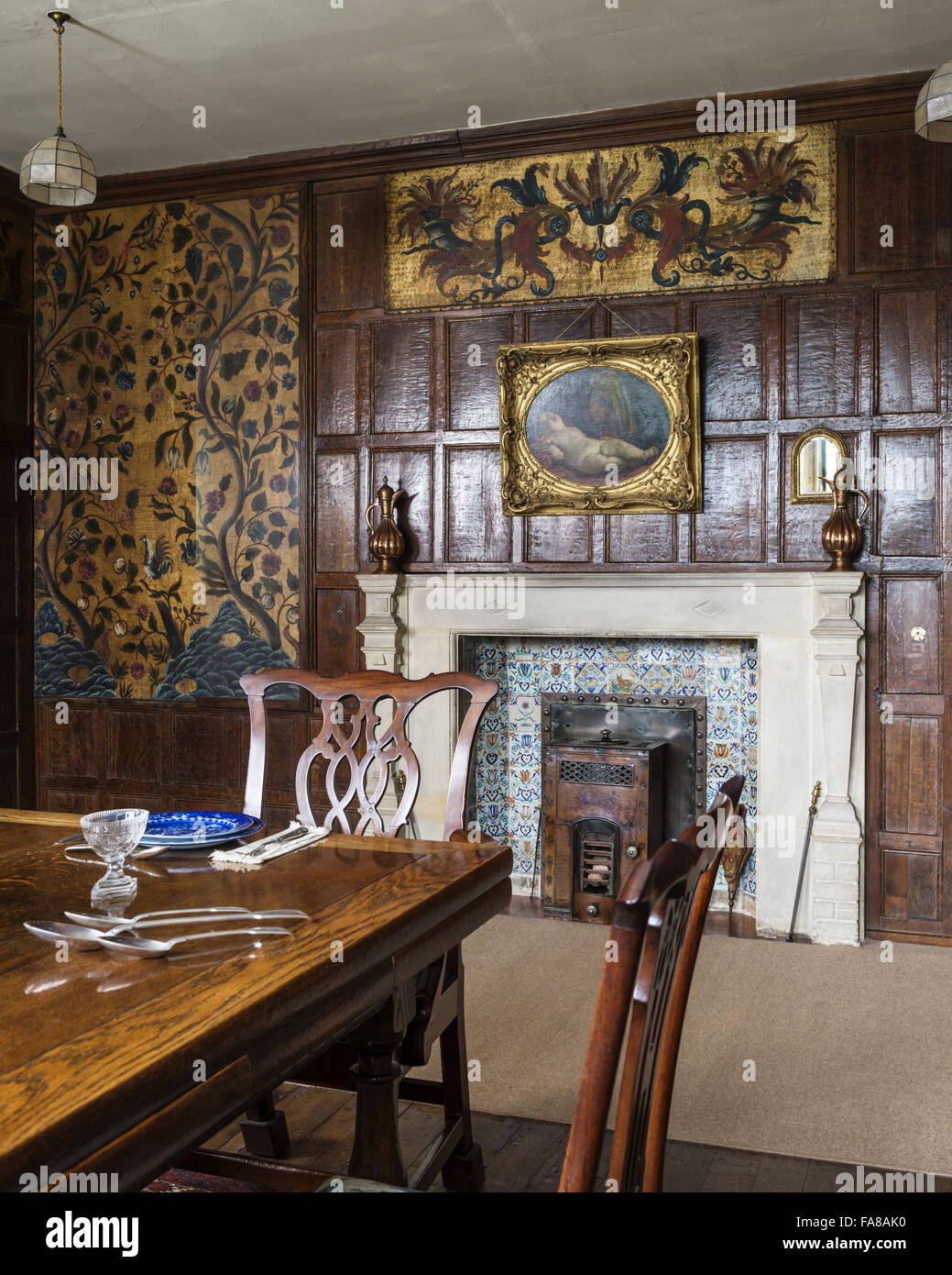 The Dining Room at Bateman's, East Sussex. Bateman's was the home ...