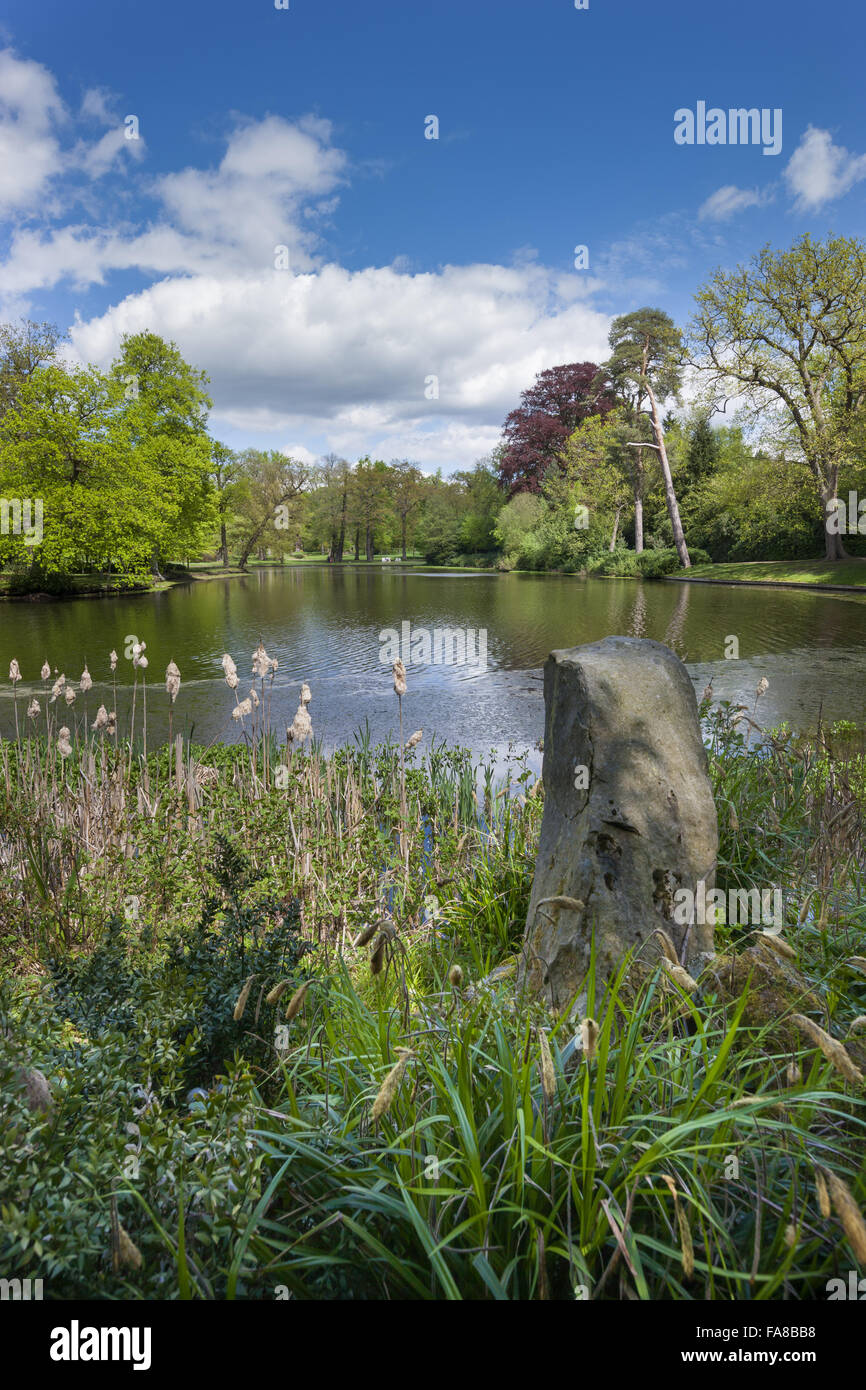 View north over the lake at claremont landscape garden surrey the view north over the lake at claremont landscape garden surrey the lake as planned workwithnaturefo