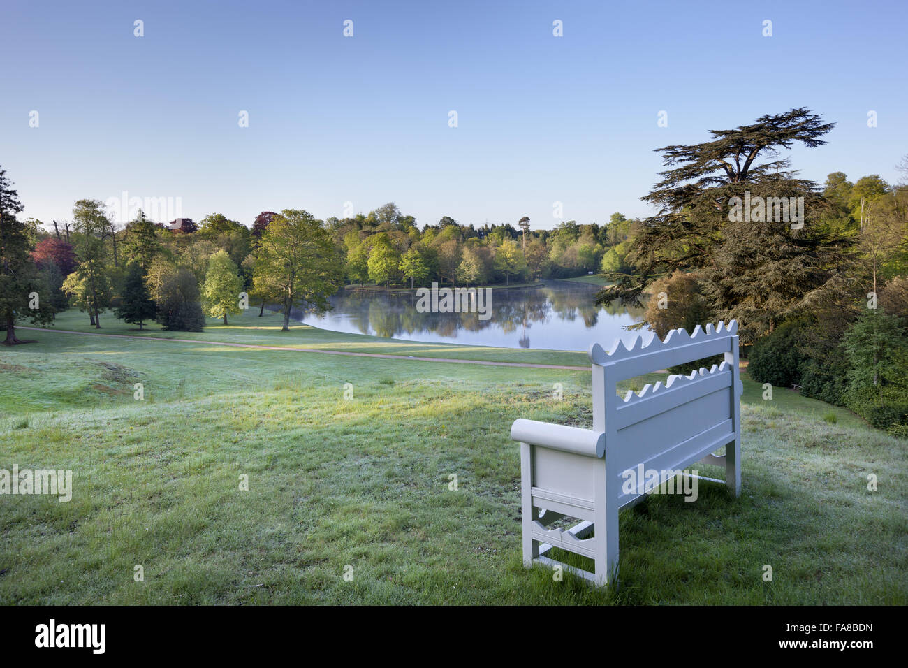 Bench overlooking the lake at claremont landscape garden surrey bench overlooking the lake at claremont landscape garden surrey workwithnaturefo
