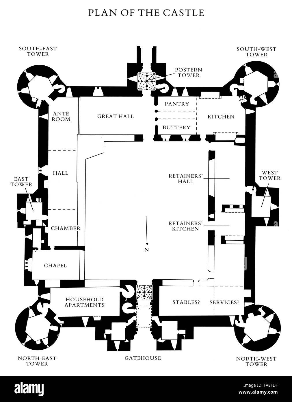 floor plan of bodiam castle east sussex stock photo house floor plans roomsketcher