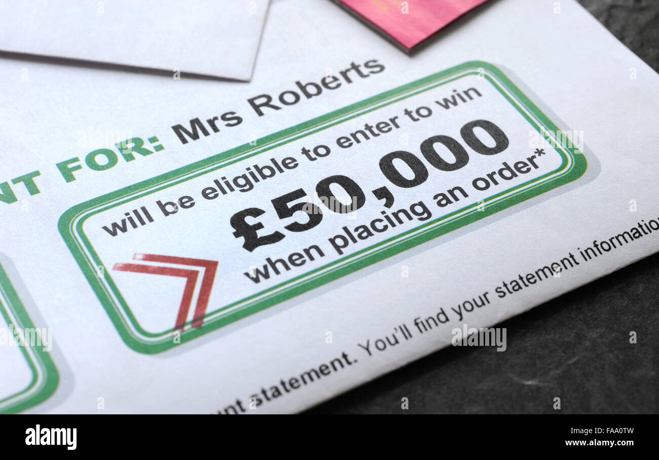 CASH WINNING PROMOTION LETTER RE JUNK MAIL COMPETITIONS ROYAL MAIL ...