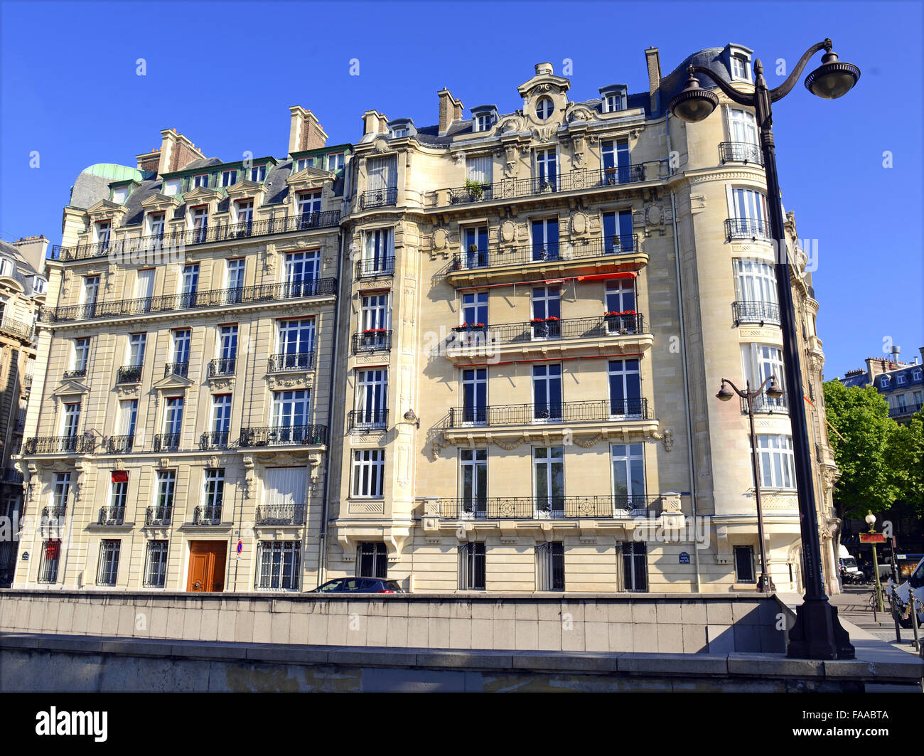 brick building facade in paris france stock photo royalty free image 92427226 alamy. Black Bedroom Furniture Sets. Home Design Ideas