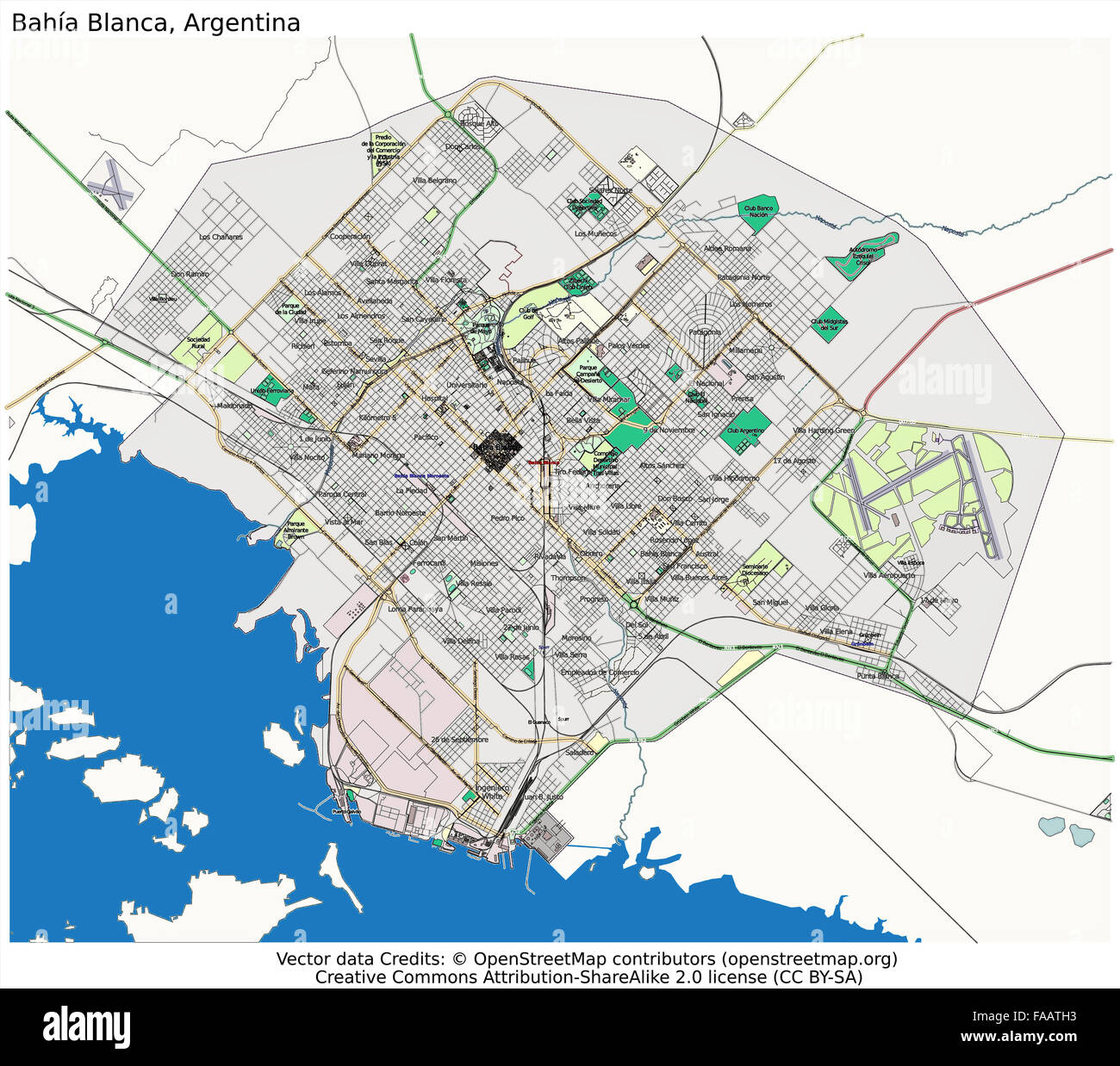 Bahia Blanca Argentina City Map Stock Photo Royalty Free Image - Argentina map bahia blanca