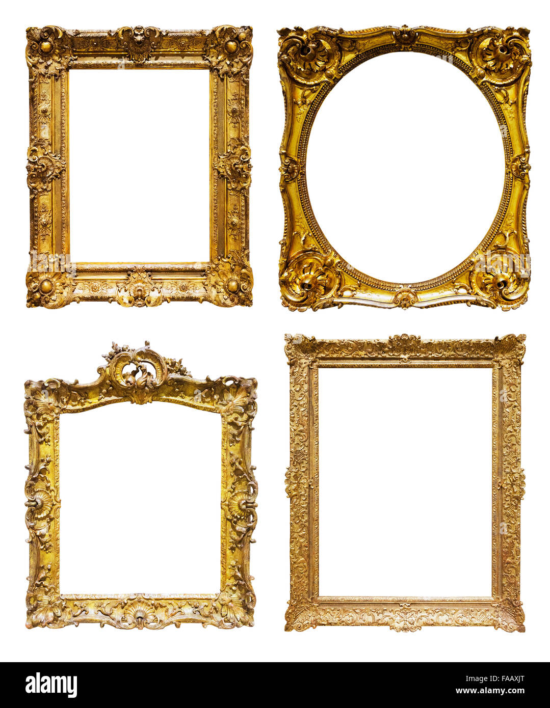 Set of old bronze frames isolated over white background may be set of old bronze frames isolated over white background may be used for photo or picture jeuxipadfo Gallery