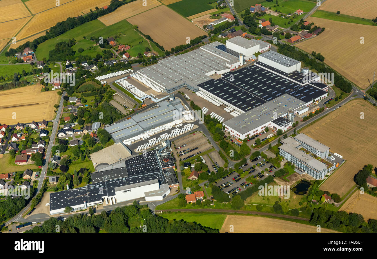 Aerial view, Bieren, Häcker Küchen GmbH & Co. KG, Rödinghausen ... | {Häcker küchen rödinghausen 19}