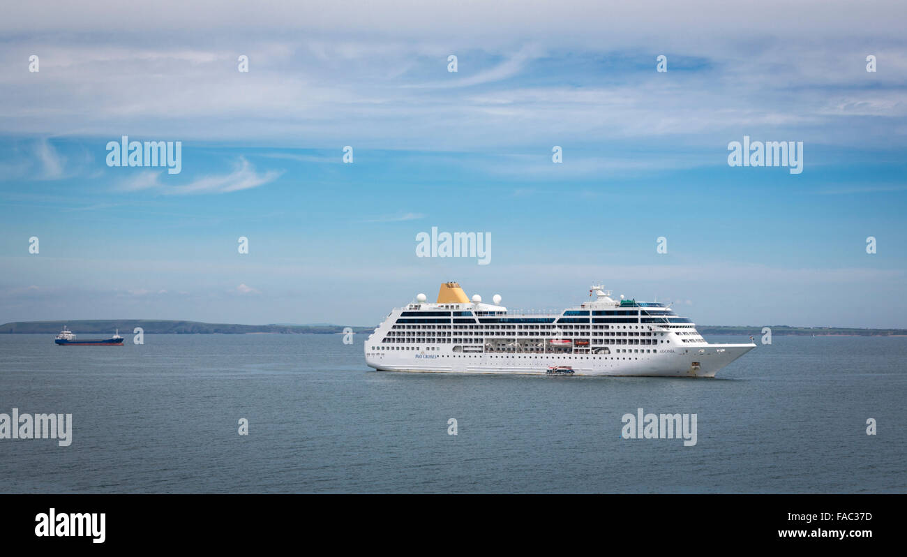 Cruise Ship Seen From Dunmore East County Waterford Ireland - Cruise ship ireland