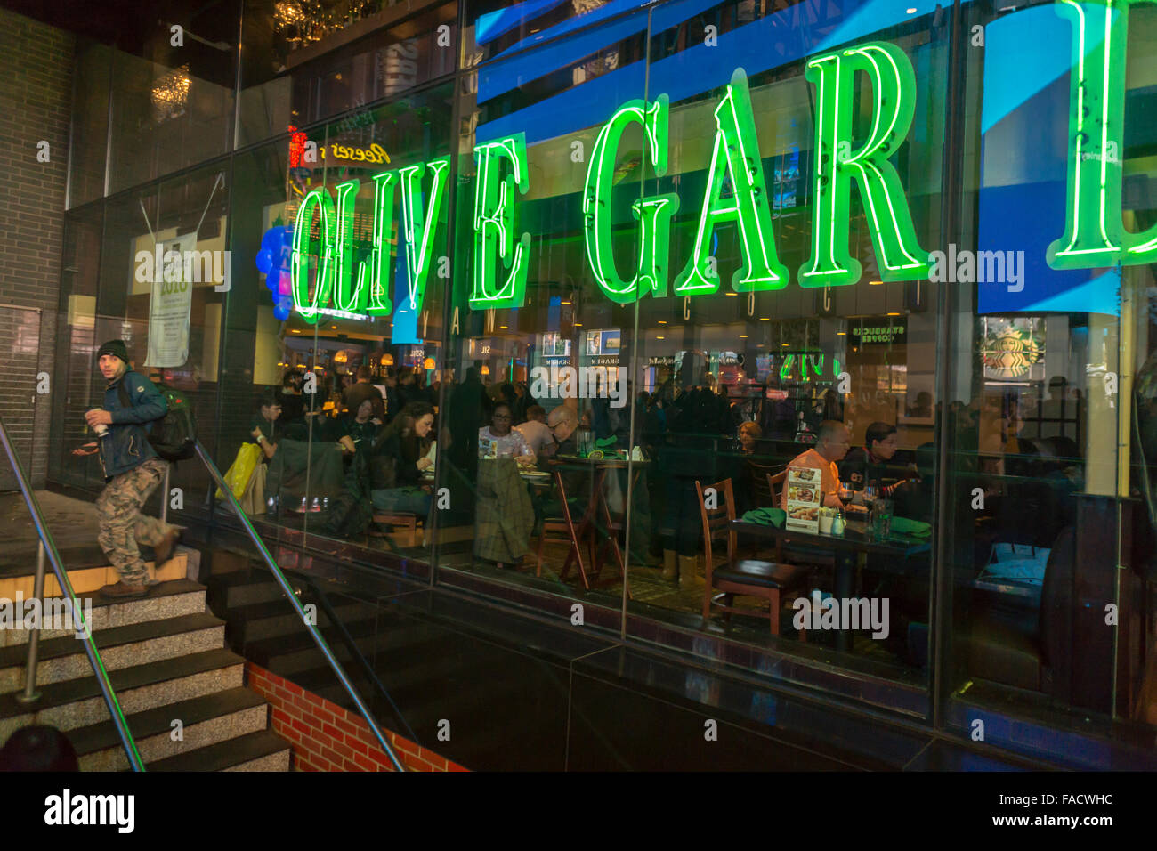 An olive garden restaurant in times square in new york is seen on stock photo royalty free Olive garden italian restaurant new york ny
