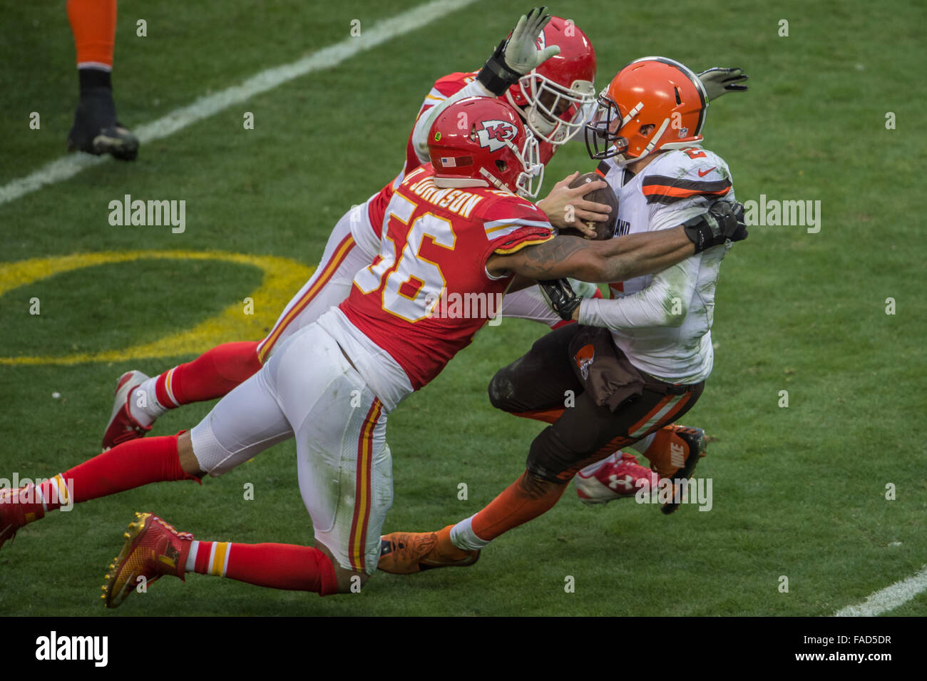 Kansas City Missouri USA 27th Dec 2015 Kansas City Chiefs LB