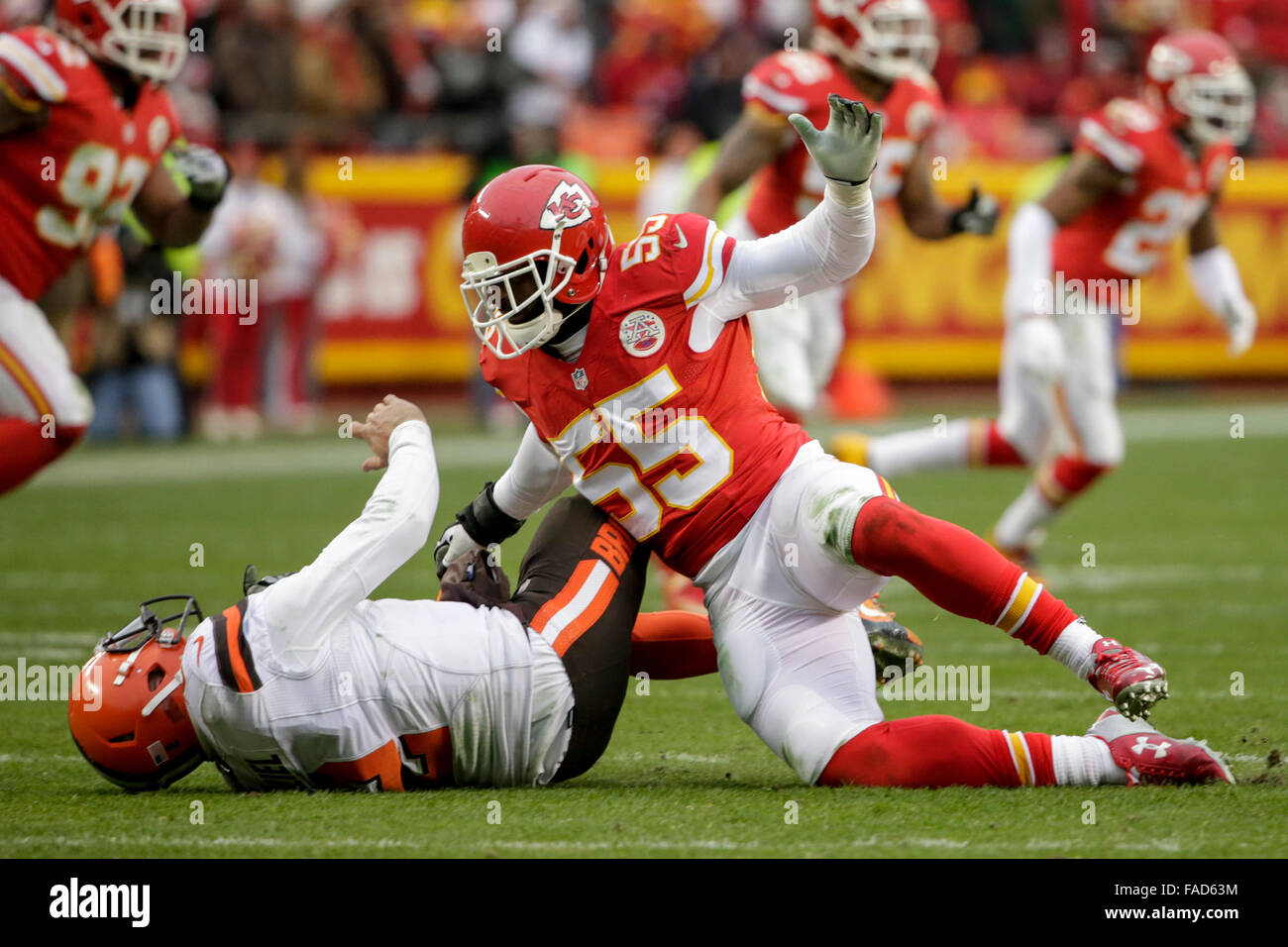 December 27 2015 Kansas City Chiefs linebacker Dee Ford 55 hits