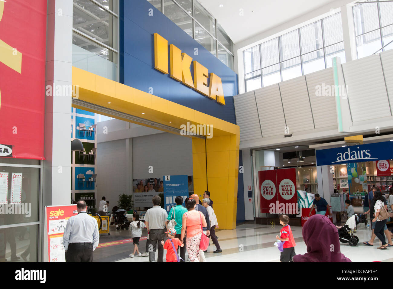 IKEA Furniture Store Entrance At Rhodes Shopping Centre In Sydney, New  South Wales,Australia