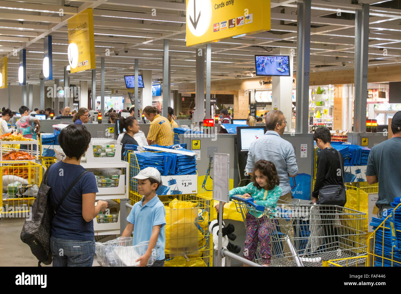 Stock Photo   Express Checkout Till IKEA Furniture Store At Rhodes Shopping  Centre In Sydney, New South Wales,Australia