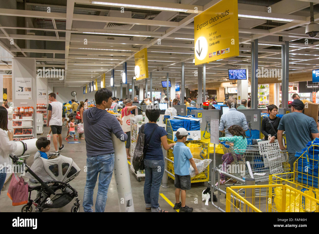 Till Checkout Queue Ikea Furniture Store At Rhodes