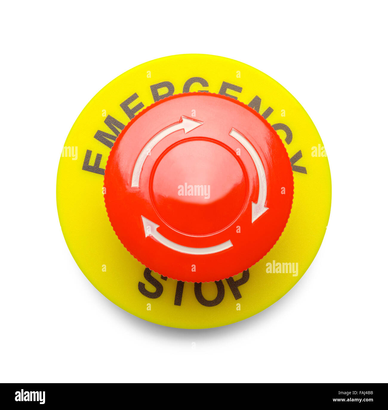 Emergency stop icon clipart emergency off - Large Red Emergency Stop Button Isolated On A White Background